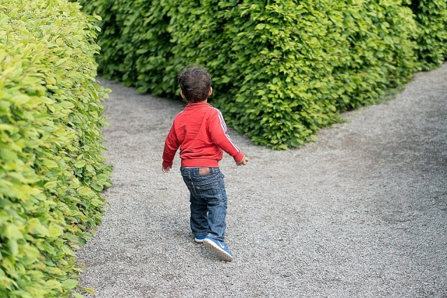 child-in-maze