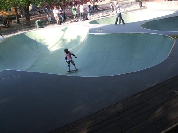 girl in skate park