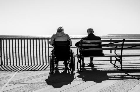 carer and patient at seadisde-bruno-aguirre-unsplash